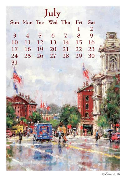Art Calendar Maine : Art calendars july