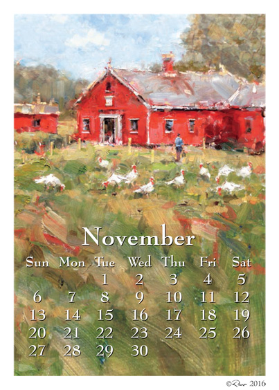 Calendar Art Peter Rolfe : Art calendars november